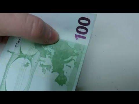 100 евро.Проверка на подлинность