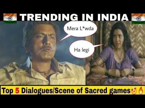 Top 5 Dialogues/scenes of Sacred Games | Ganesh gaitonde rocks😍🔥
