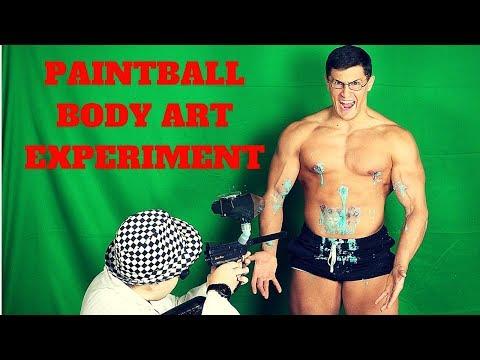 Paintball Gun BODY ART Experiment Fail *CRAZY WOUNDS*   Insane Paintball Guns Experiment GONE WRONG