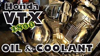 8. Honda VTX 1800F OIL & COOLANT Replacement IN DETAIL / Заміна ма�ла та охолоджувальної рідини