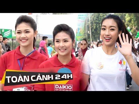 Hoa Hậu Đỗ Mỹ Linh, Á hậu Thanh Tú hưởng ứng ngày chạy bộ toàn dân từ Bắc đến Nam | Toàn cảnh 24h