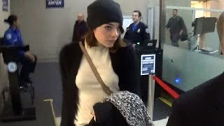 Emma Stone Causes Chaos While Arriving For Golden Globes