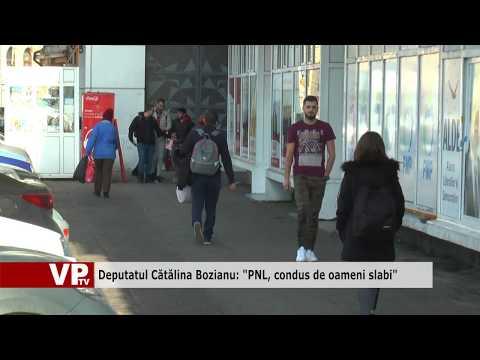 """Deputatul Cătălina Bozianu: """"PNL, condus de oameni slabi"""""""