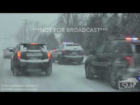 02-15-2019 Kansas City Metro Morning Snow Road Deterioration and Wreck