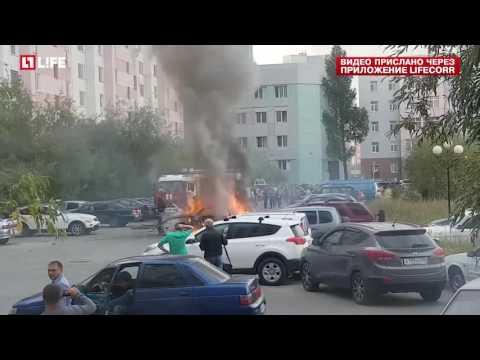 Взрыв 'Приоры' в Новом Уренгое