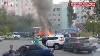 Взрыв Приоры в Новом Уренгое