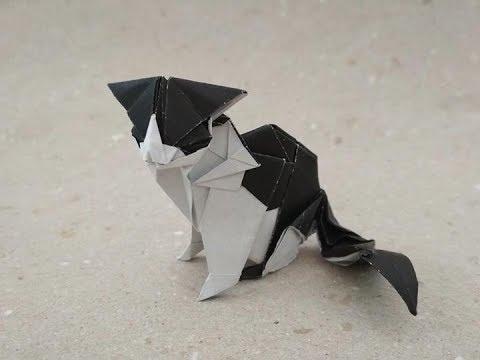 Quá trình gấp Mèo Origami