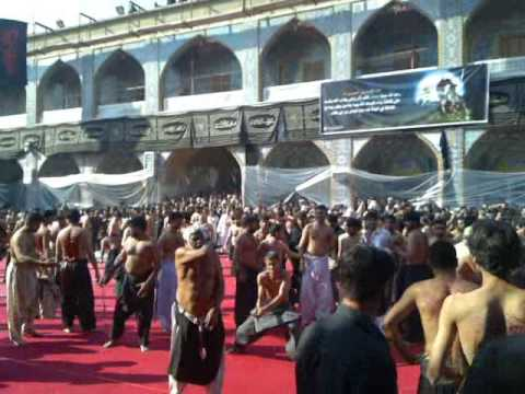 Zanjeer zani inside Hazrat Abbas Shrine Karbala 2010