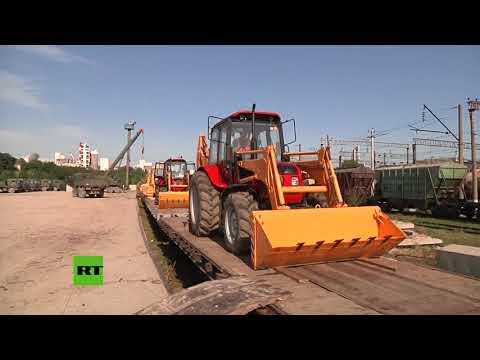 Rusia envía más de 4.000 toneladas de materiales para reconstruir Siria