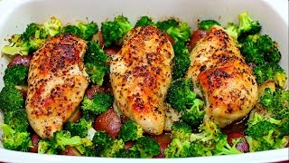 This easy one pan honey garlic chicken and veggies is the way to eat delicious and healthy. The chicken is baked with a honey garlic sauce, and it is paired with ...