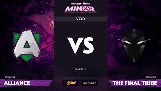 [RU] Alliance vs The Final Tribe, Game 1, StarLadder ImbaTV Minor S2 EU Qualifiers