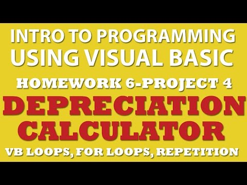 VB.net: Depreciation Calculator (6-pp4) – using For Loops