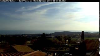 Timelapse 09-03-2015 Sant Vicenc de Montalt - Mar