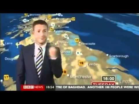 BBC Weatherman fail