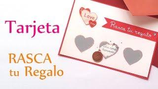 Manualidades Para San Valentín ♥ Tarjeta RASCA Tu REGALO ♥ - Innova Manualidades