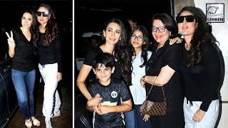 Kareena & Karishma Kapoor Look Stunning In Their Black Avatar | LehrenTV