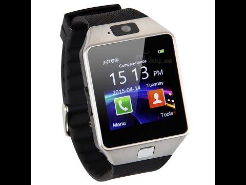 TEST Kivors Smartwatch DZ09 mit Bluetooth für iOS und Android (видео)