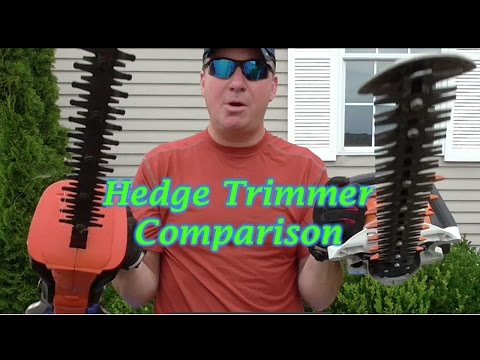 Gas vs Electric Hedge Trimmer. Stihl, Black & Decker Review