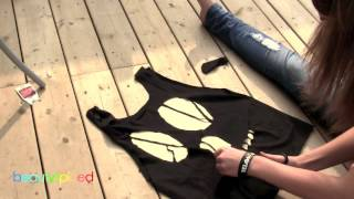 DIY Skull Cut Out Tank - YouTube
