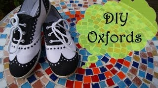 DIY OXFORDS | PAINT YOUR SHOES! - YouTube
