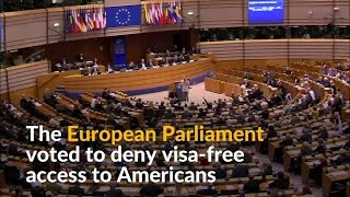 European Parliament Passes Resolution To End Visa-Free Travel For Americans.The non binding resolution comes in response to the US not agreeing to visa free travel for five EU countries Bulgaria, Croatia, Cyprus, Poland and Romania as part of a reciprocal agreement. Previously US citizens could travel to all countries in the bloc without a visa. The European Commission has said it intends to pursue a diplomatic resolution to the dispute, leaving the outcome of the situation uncertain. If the European Parliaments vote is enacted, the visa free travel scheme could be revoked by May, requiring US citizens to apply for extra documents for 12 months. The European Commission is, however, wary of the potential consequences of the order and the significant impact it may have on the blocs tourism industry. The failure of the US to meet its obligations under the reciprocity agreement was discovered three years ago, but the European Commission has yet to take action. Australia, Brunei, Japan and Canada also failed to meet their obligations, but have lifted or are soon to lift the visa restrictions.========= Join Us ============** Channel Link : http://bit.ly/2aUXmso** HGTV Dream Home: https://youtu.be/E7dexSblJD4** It's So Hot Out Cockroaches Might Start Flying in NYC: https://youtu.be/p_4sXyQHoms** Bones may belong to teen sacrificed to Zeus: https://youtu.be/BvzMY2JM-2Q** Chimney Fire burns 850 acres near Nacimiento Lake: https://youtu.be/N7Xav9guuOI** Hundreds of Tiny Montserrat Tarantulas Hatch in Zoo: https://youtu.be/BtglHldFhVQ** Bill Clinton Talks Email Controversy: https://youtu.be/DHE1pCdQgNE** Donald Trump Recruits Election Observers to Avoid a 'Rigged' Election: https://youtu.be/hkbfqrS2aIg** Historic' Louisiana Floods: https://youtu.be/OiyVaDKDVJ0** 2 wildfires in California send residents fleeing from homes: https://youtu.be/tQ9jbs1JNE0** Virginia Plane Crash - 6 Victims Identified: https://youtu.be/6xAgbVb1mO0** Explosion of Steam Pipe at Chinese Power Station Kills 21: https://youtu.be/VImgTAFR2RY** Huge fire and explosion destroys Md. apartment complex: https://youtu.be/Dm6JbfpxD18** Pilot fire grows to more than 7,700 acres: https://youtu.be/m98zL5CkyCM** Blind Kid Throws D backs First Pitch in Game: https://youtu.be/auBKq18TuiQ** Kuznetsov Scores World Class Goal ● Ice Hockey: https://youtu.be/vqZtuVe4YSM** Stipe Miocic knocks out Fabricio Werdum : https://youtu.be/1y0ZD3Y0NS0