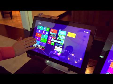 ASUS Transformer AIO P1810 All-in-One PC & World's Biggest Tablet - Linus Tech Tips CES 2013