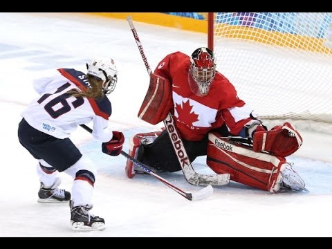 Canada vs USA Women's Hockey Sochi 2014 Olympics: 3-2