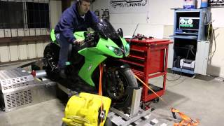 8. Final pull 2008 Kawasaki ZX10R after mapping the Power Commander at CompJLT Tuning Victoria TX