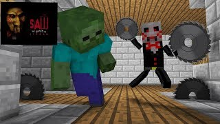 Video Monster School : Jigsaw Horror Game Challenge - Minecraft Animation MP3, 3GP, MP4, WEBM, AVI, FLV Agustus 2018