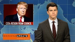 Weekend Update anchors Colin Jost and Michael Che tackle the week's biggest news, including Trump disbanding his economic councils due to CEOs resigning and the opioid epidemic in America.Get more SNL: http://www.nbc.com/saturday-night-liveFull Episodes: http://www.nbc.com/saturday-night-liv...Like SNL: https://www.facebook.com/snlFollow SNL: https://twitter.com/nbcsnlSNL Tumblr: http://nbcsnl.tumblr.com/SNL Instagram: http://instagram.com/nbcsnl SNL Pinterest: http://www.pinterest.com/nbcsnl/