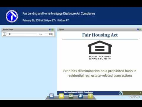 Fair Lending and Home Mortgage Disclosure Act