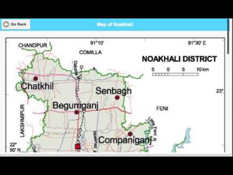 Video of Map of Bangladesh