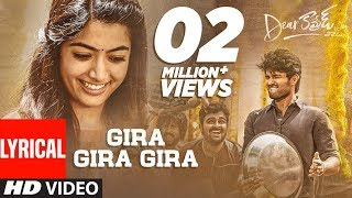 Dear Comrade Telugu - Gira Gira Gira Lyrical Video Song | Vijay Deverakonda | Rashmika |Bharat Kamma