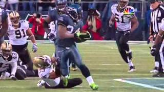 I do not own this footage.** Rights go to NBC and NFL properties. No copyright infringement intended** Marshawn Lynch makes 9 men miss with this amazing run. Tags: Marshawn Lynch, Marshawn Lynch TD vs Saints, Marshawn Lynch 67 yard TD vs Saints, Marshawn Lynch 67 yard touchdown vs Saints, Marshawn Lynch TD run vs Saints,Saints vs Seahawks, 2011 wildcard, Marshawn Lynch Beast Mode, Marshawn Lynch BEAST MODE, Marshawn Lynch BEASTMODE, Lynch TD, Lynch touchdown, Lynch TD, Lynch touchdown, Lynch run