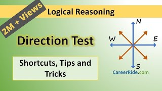 Crack the logical reasoning section of Placement Test or Job Interview at any company with shortcuts & tricks on Direction Sense. Extremely helpful for the preparation of entrance exams like MBA, Banking – IBPS, SBI, UPSC, SSC, Railways etc.