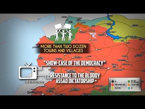 17 сентября 2018. Военная обстановка в Сирии. Многотысячные митинги на северо-западе Сирии. - DomaVideo.Ru