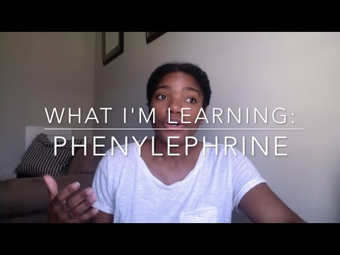 What I'm Learning in CRNA School: Phenylephrine