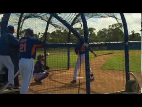 Video: Ike Davis and Lucas Duda compete at New York Mets camp