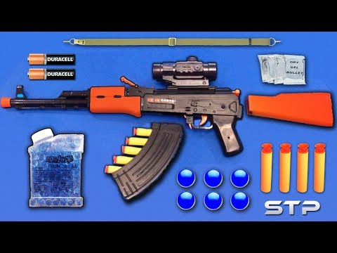 Realistic AK47 Toy Gun | Water Gel Ball Bullet Machine Gun Toy | Soft Darts Shooting Toy Guns