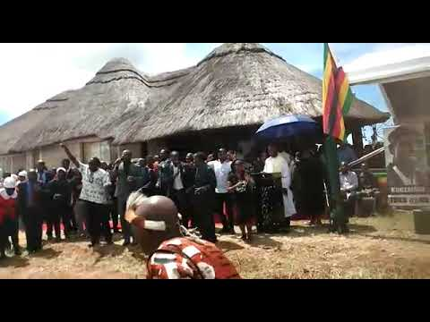 Charamba singing at Dr Tuku's Funeral