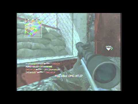 CoD 4 -  Double Y No Scope Across the Map