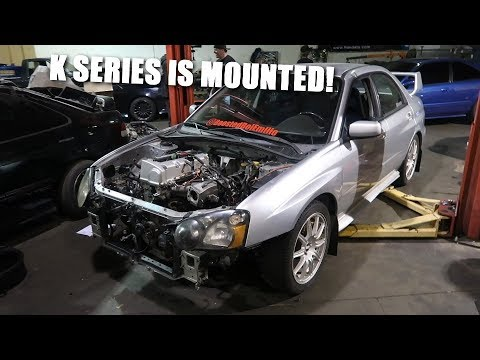 Making Motor Mounts for the K Swapped STI! (видео)