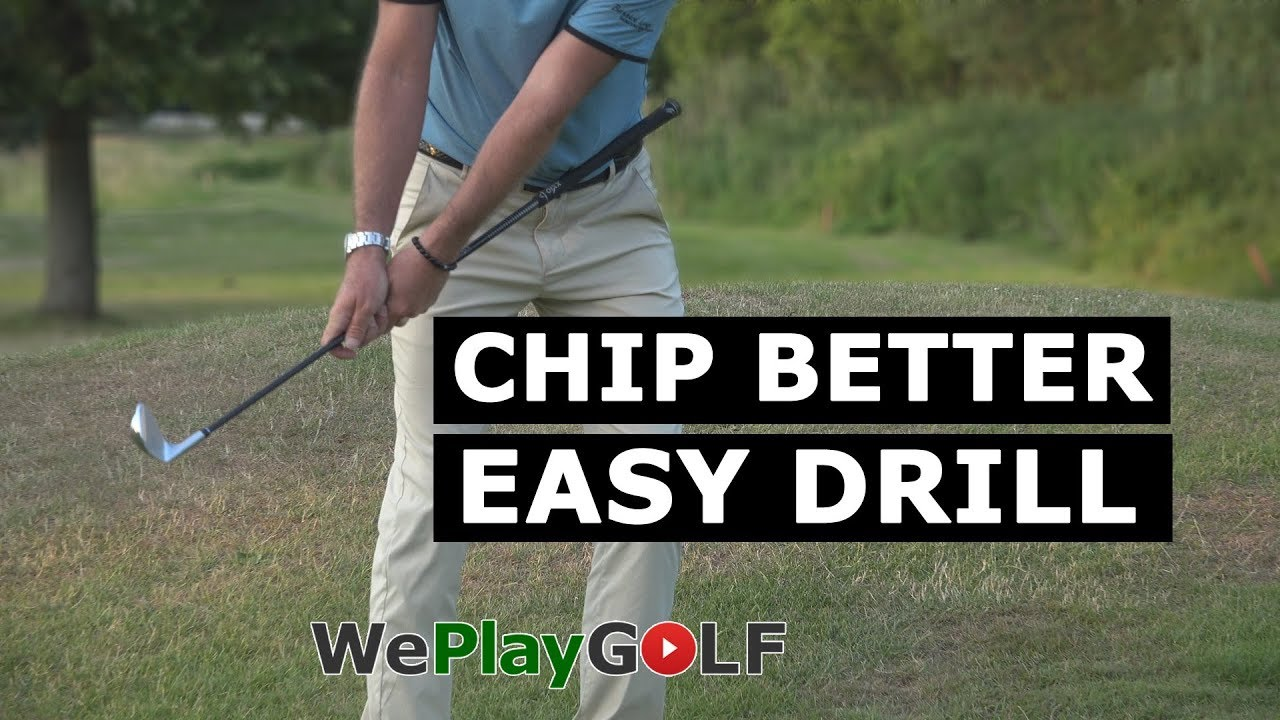 Best GOLF drill for CHIPPING! Never SCOOP the ball anymore!