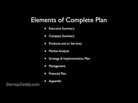 business planning - From: http://www.StartupDaddy.com Lots of people have ideas to start a business, but starting a successful business takes more than a good idea, it takes pla...