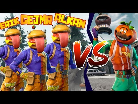 Minihra 🍔 BURGER Team Vs 🍕 PIZZA Team [Fortnite]