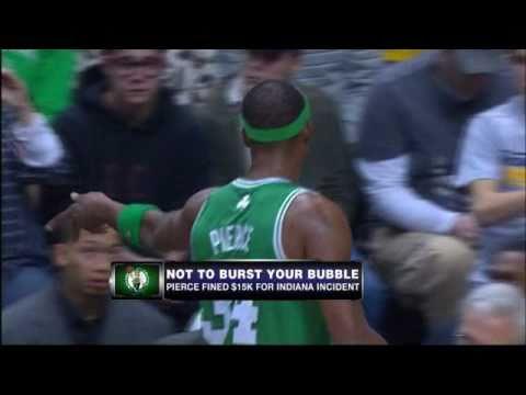 Paul Pierce Throws Gum at Fan!!!!