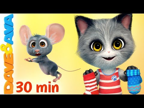 😻 Nursery Rhymes and Kids Songs | Baby Songs |  Dave and Ava 😻