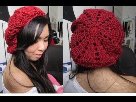 DIY:  Patched/Pyramid Beret (Crochet Tutorial)