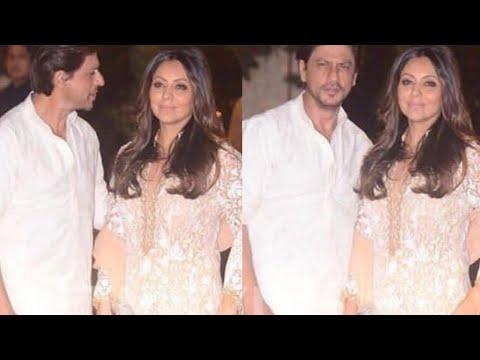 Shah Rukh Khan and Wife Gauri Khan Arrive Together