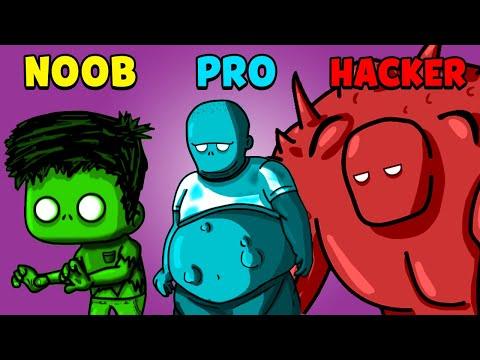 NOOB vs PRO vs HACKER - Zombeat.io